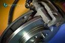 Disque et plaquettes avec etrier de frein