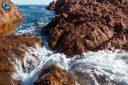 Roche volcanique dans le massif de l'Esterel