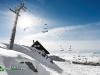 station de sport d'hiver ni=eige et soleil
