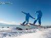 Montage saut snowboard