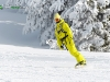 Snowboard jaune