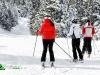 Groupe de skieurs sur les pistes