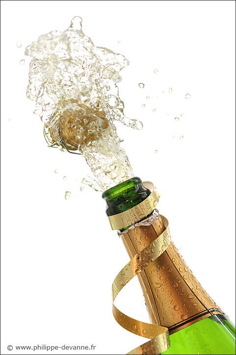Explosion de champagne