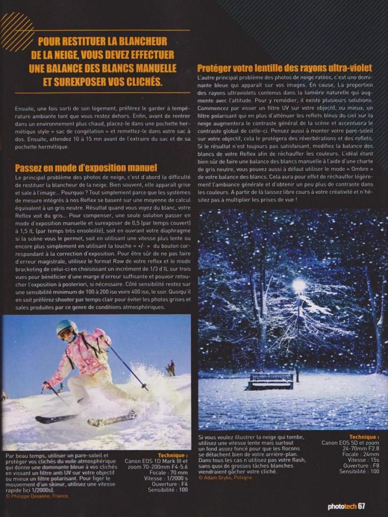 Illustration ski enfant dans phototech