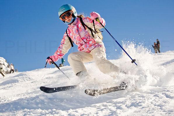 Descente ski enfant