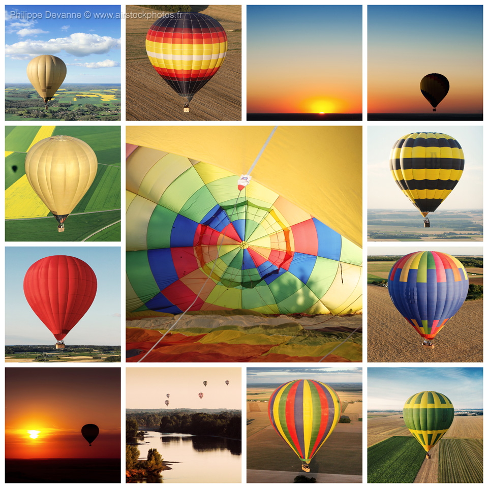 Montgolfières collage
