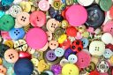 colorful sewing buttons and accessories set