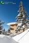 Sation de ski sous la neige