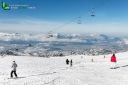 Piste de ski  sur la vallée de Grenoble