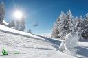 Paysage neige et remontée mécanique