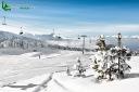 Neige en station de sport d'hiver
