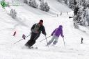 Descente deux skieurs